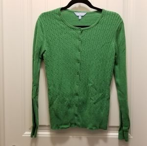 Denver Hayes green button up cardigan